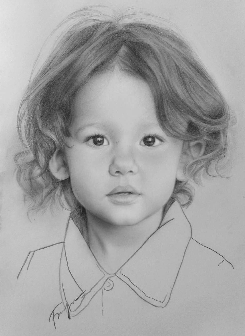 baby portrait pencil drawings by vita biryulina