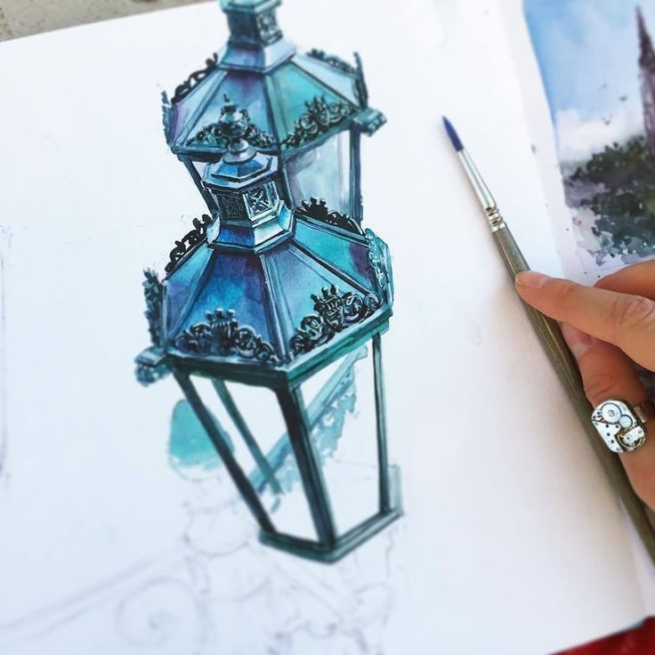 bulb watercolor paintings by julia barminova