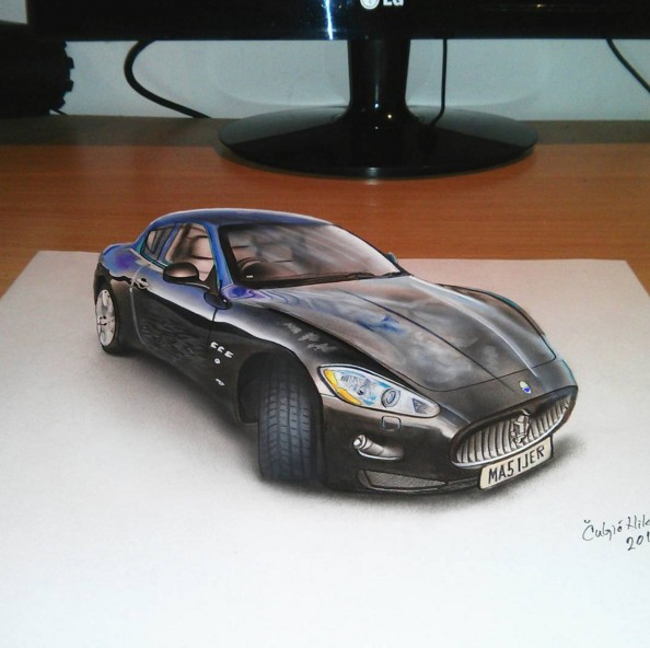20 car 3d drawings by nikola culjic