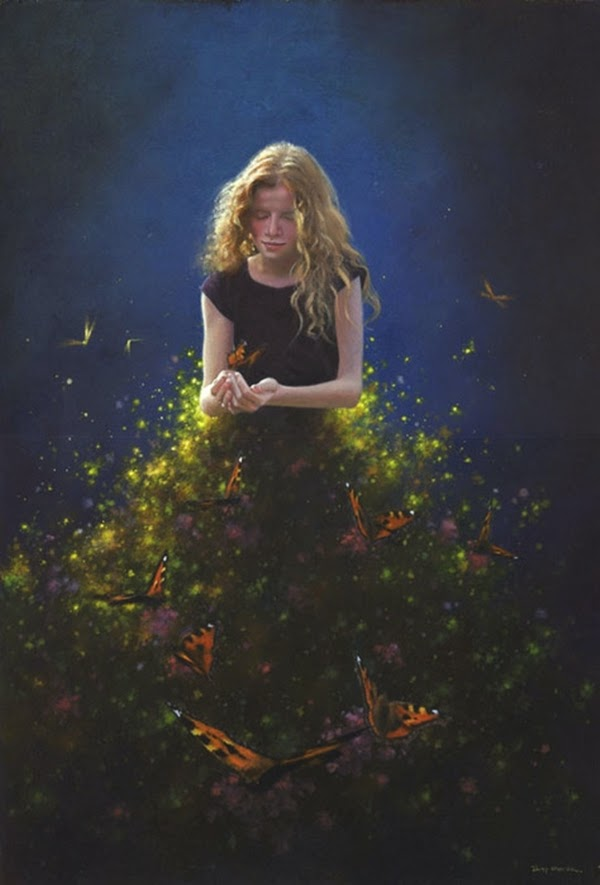 child surreal paintings by jimmy lawlor