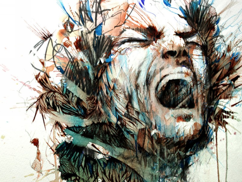man creative drawings by carne griffiths
