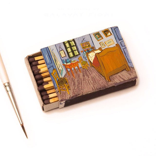 3 bedroom arles miniature painting matchbox by salavat fidai