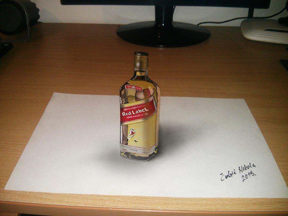 bottle 3d drawings by nikola culjic