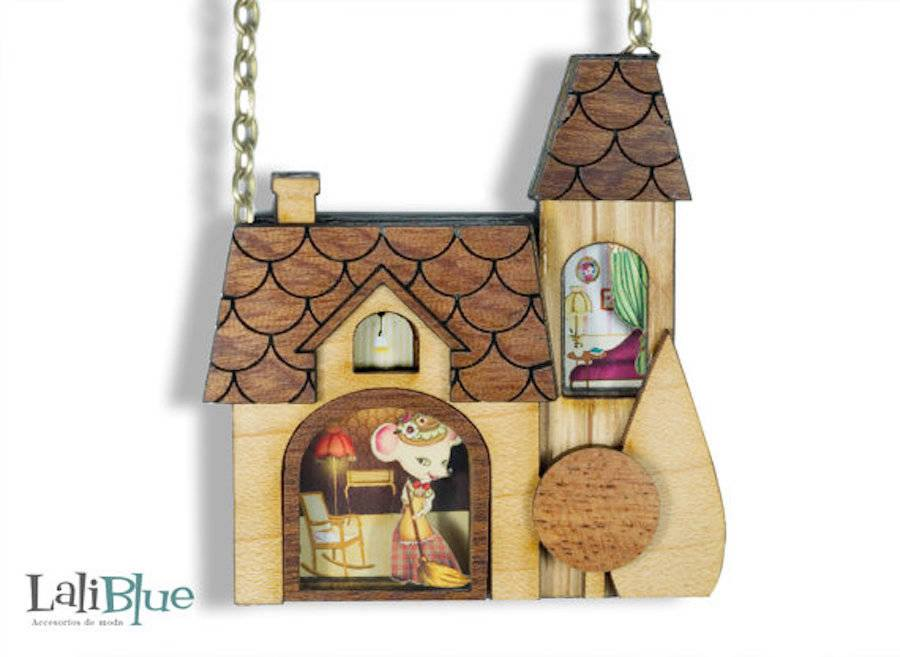 creative sculptures wood jewelry by laliblue
