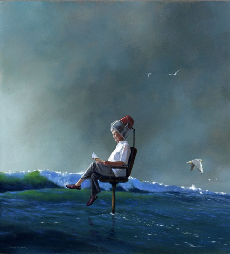 man surreal paintings by jimmy lawlor