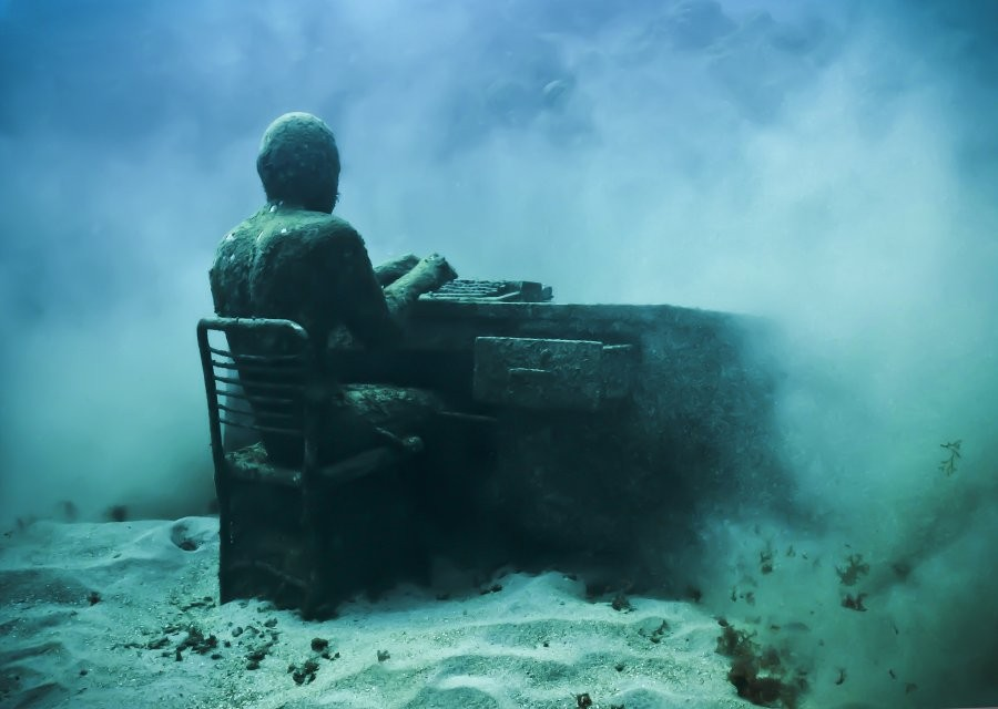correspondent underwater sculptures by taylor