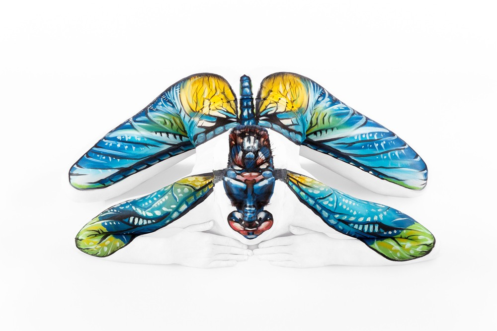housefly body painting art by emma fay