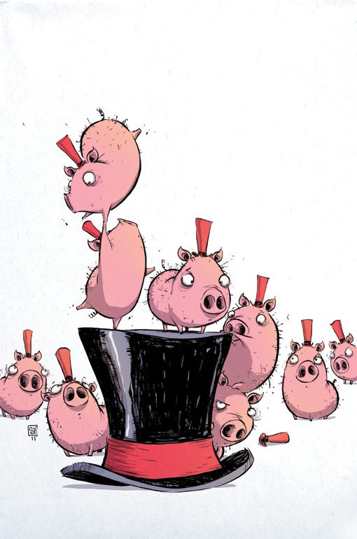 pig comic art by skottie young