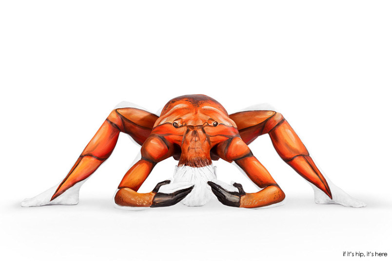 crab body painting art by emma fay