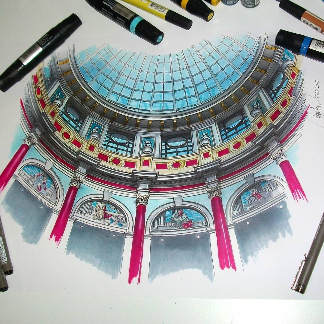 palace realistic drawing by ayse bakir