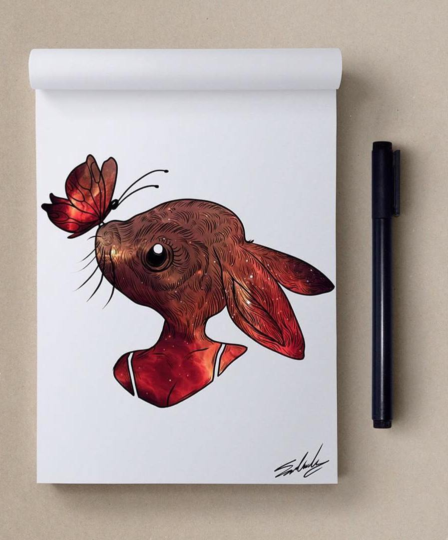 rabbit creative paintings by muhammed salah