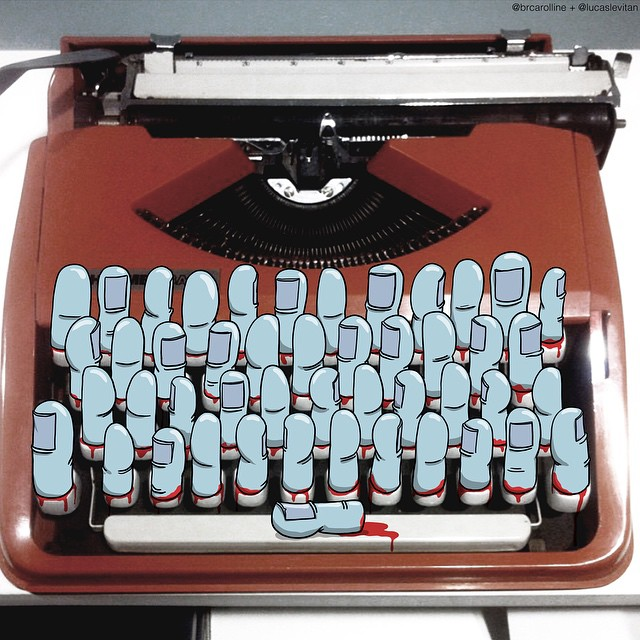 typewriter creative art ideas by lucas levital