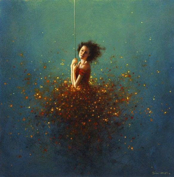 woman surreal paintings by jimmy lawlor