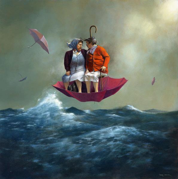 couple surreal paintings by jimmy lawlor