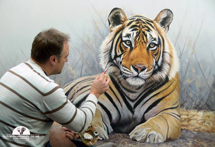 7 tiger animal paintings by richard symonds