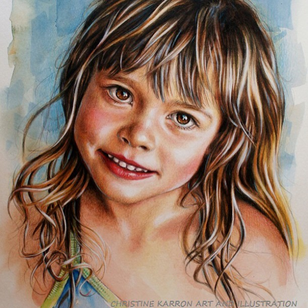 child watercolor paintings by christine karron