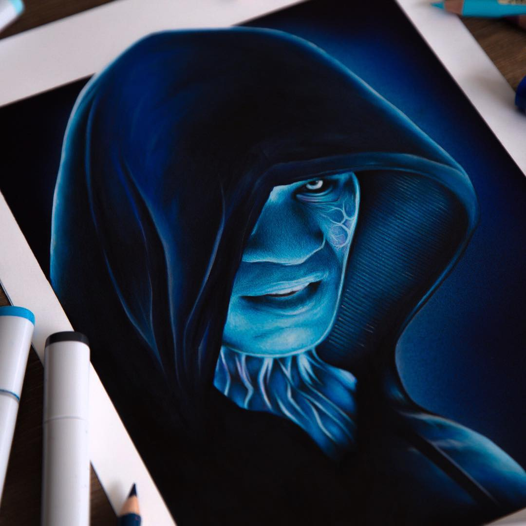 electro color marker drawings by stephen ward