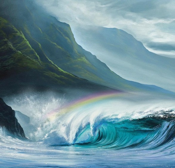 8 realistic ocean paintings by ashton howard
