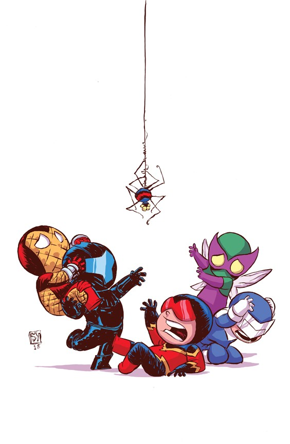 superior foes spider man comic art by skottie young