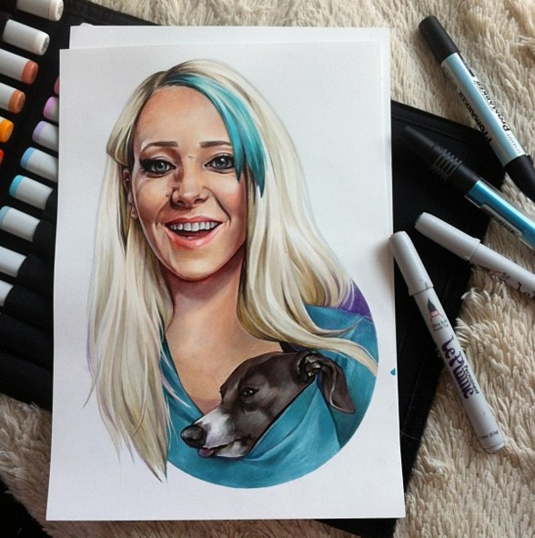 8 woman color pencil drawing by maria