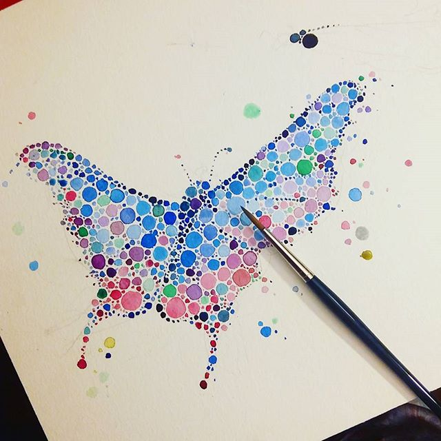 butterfly watercolor painting by anaensh