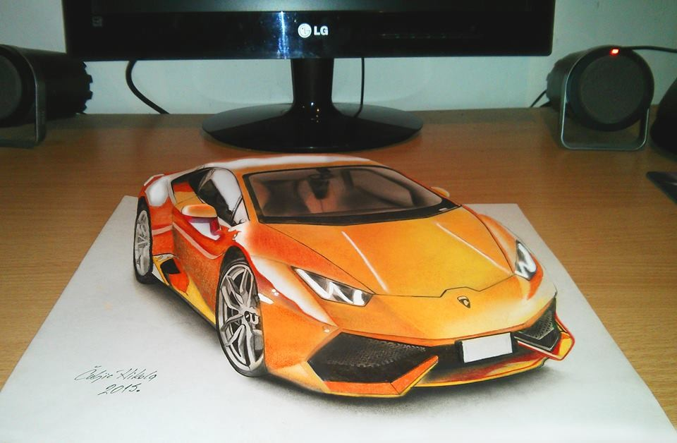 car 3d drawings by nikola culjic
