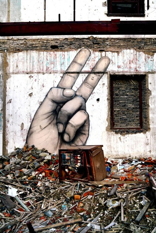 fingers street art by graham fink