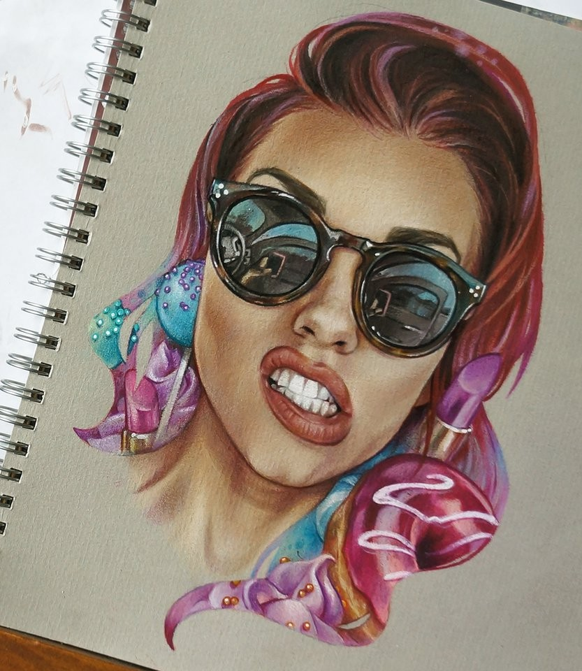 kandee johnson color pencil drawing by maria