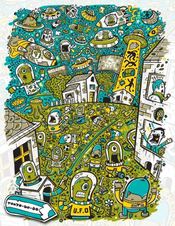 people shock doodle art by toko go go