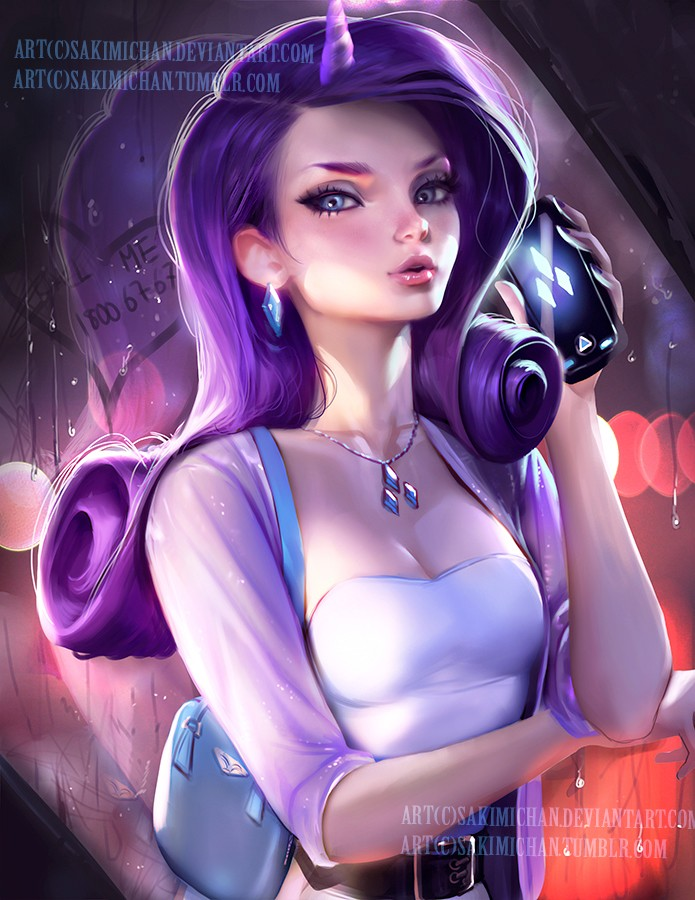 rarity modern digital art by sakimi chan