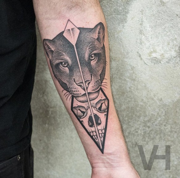 split animal hand tattoos by valentin hirsch
