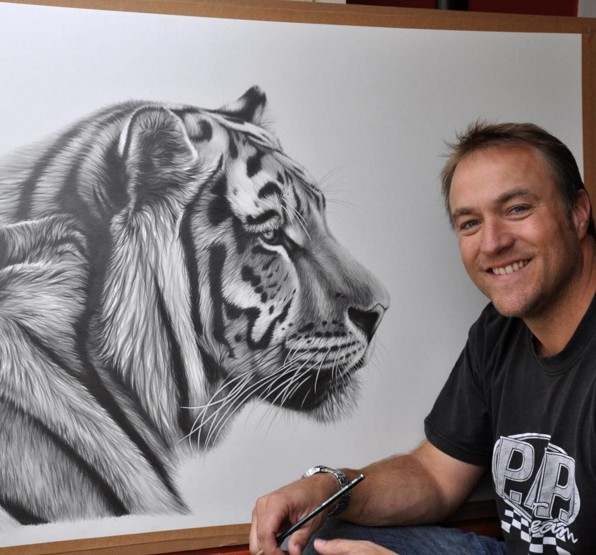9 tiger animal paintings by richard symonds
