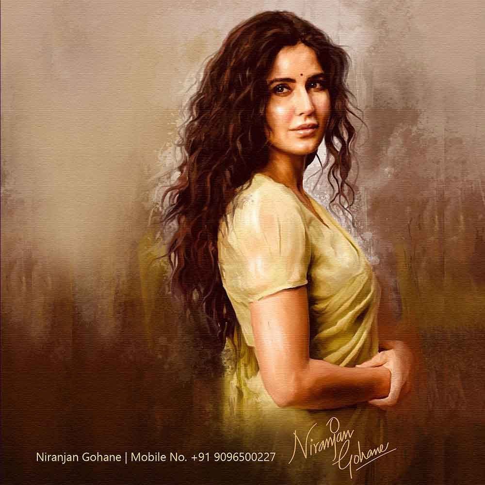 photo digital painting katrina kaif niranjan gohane