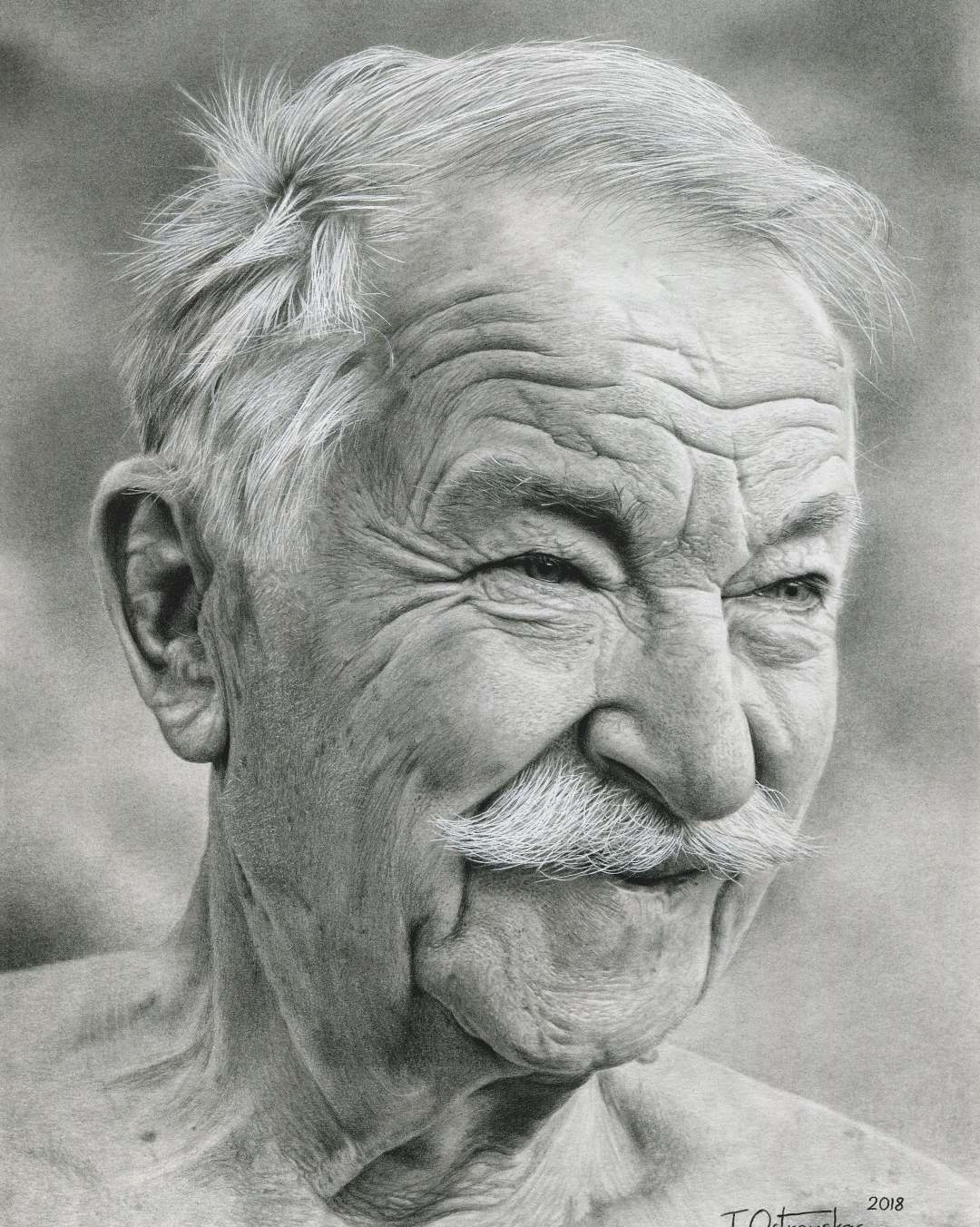1 portrait pencil drawing grandpa tomas ostrauskas