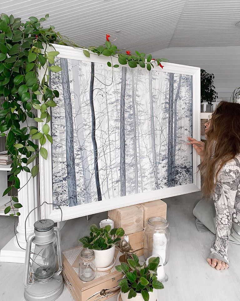 painting forest alena suleimanova
