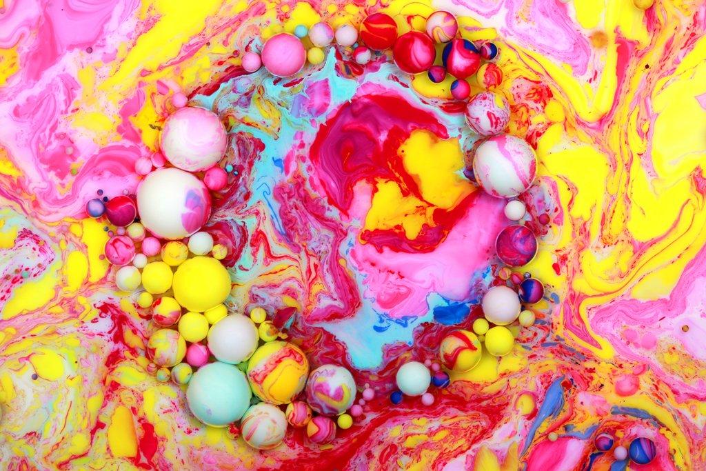 paintings bubble haloscape seb duke