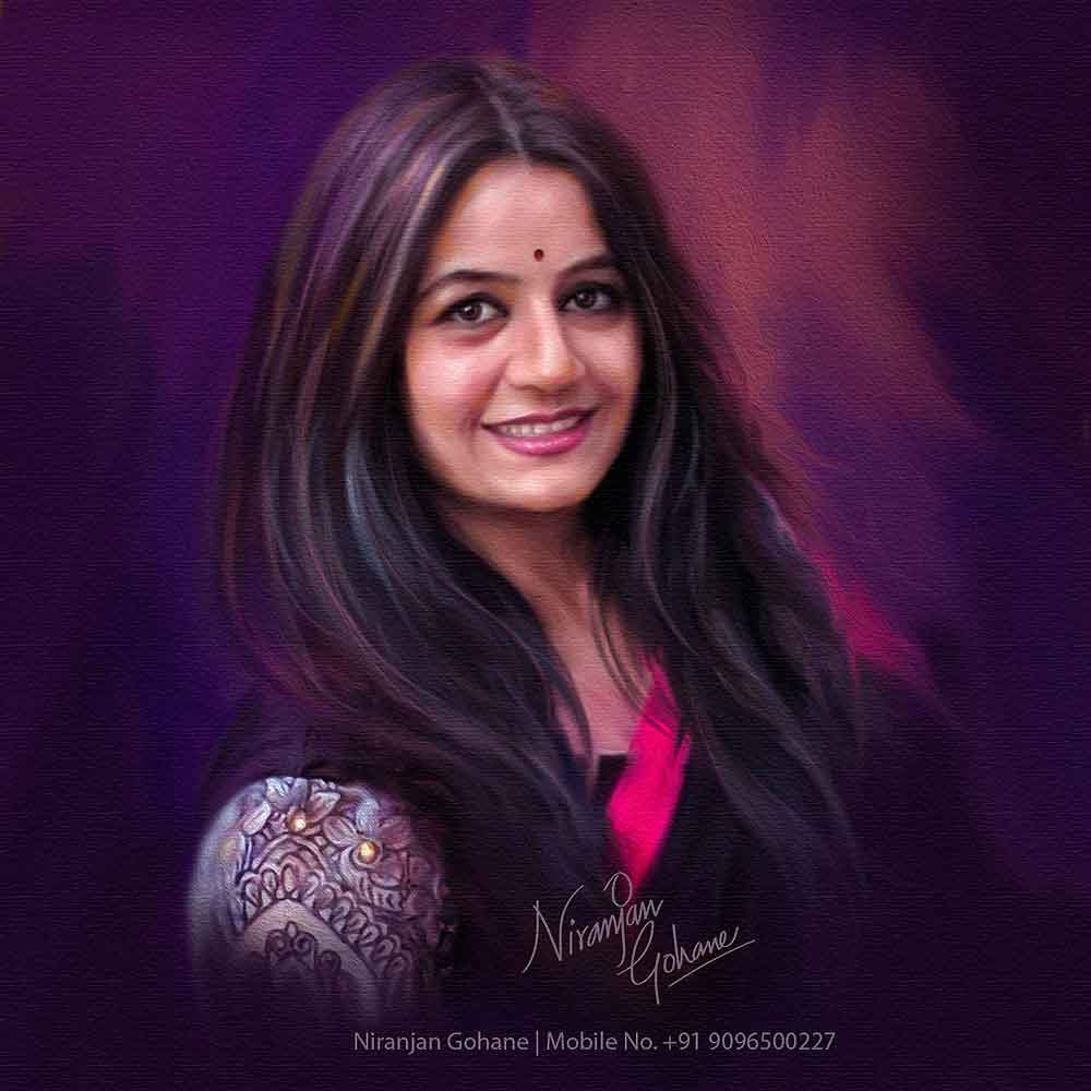 photo digital painting purple haze niranjan gohane