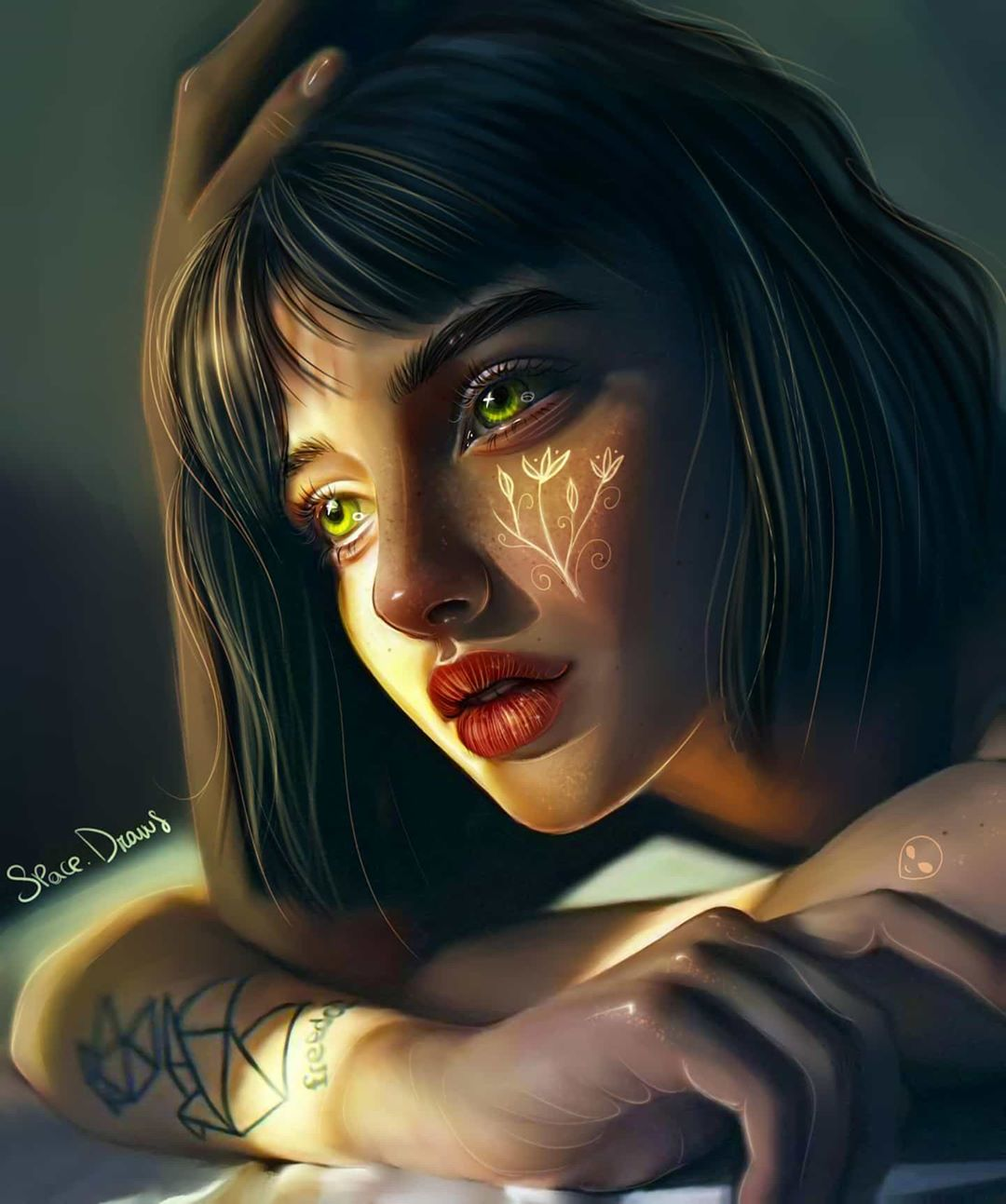 digital painting portrait comfort spacedraws