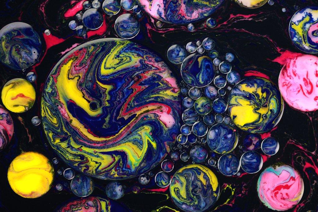 paintings bubble planets seb duke