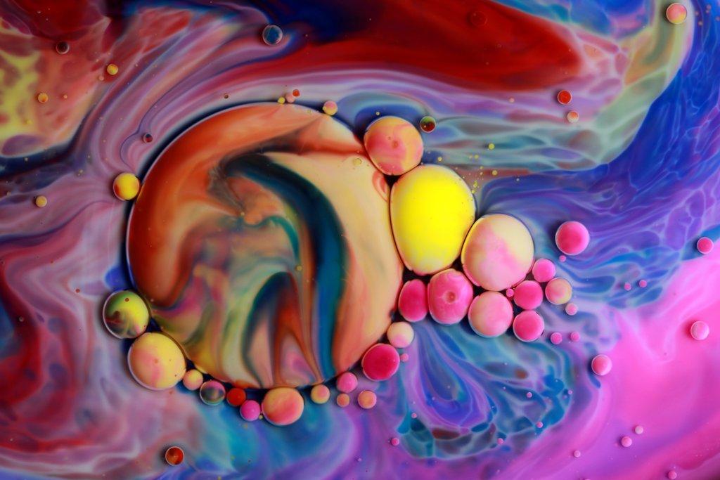 paintings bubble swirl seb duke