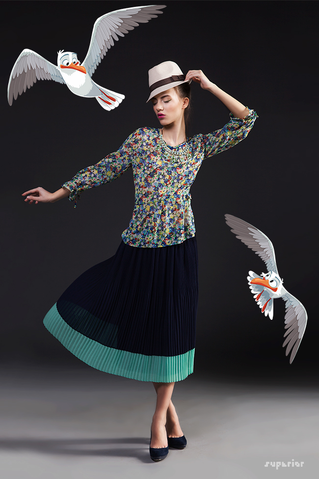 fashion photography digital illustration bird stanimira stefanova