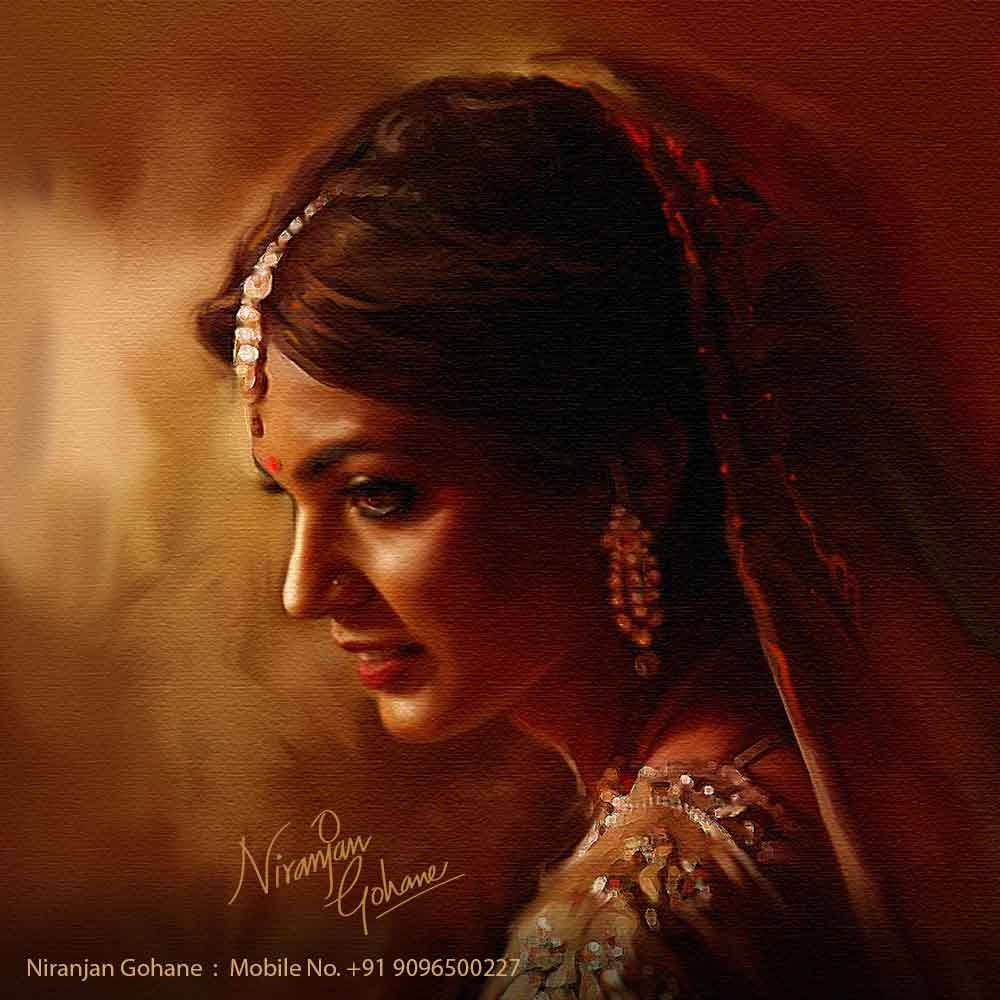 photo digital painting deepika padukone niranjan gohane