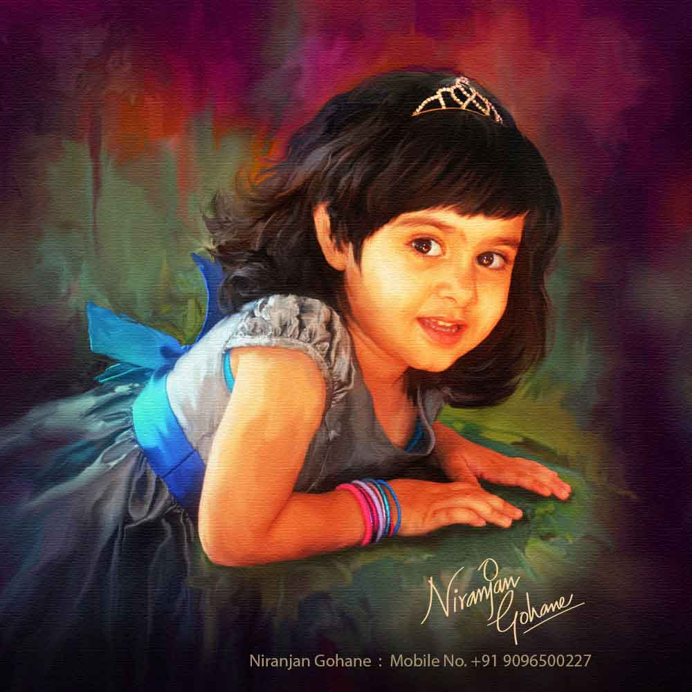 photo digital painting girl niranjan gohane