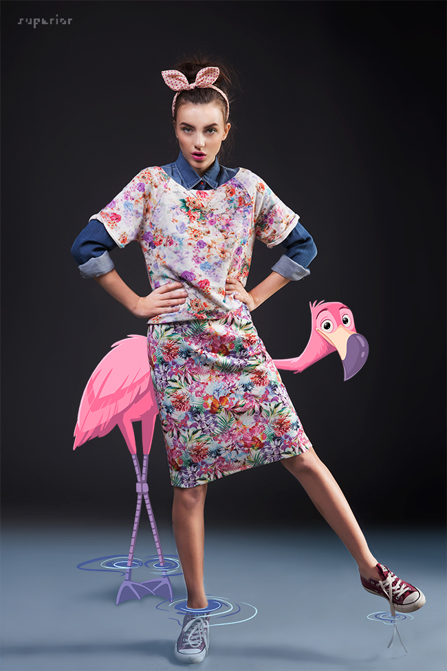 fashion photography digital illustration flamingo stanimira stefanova