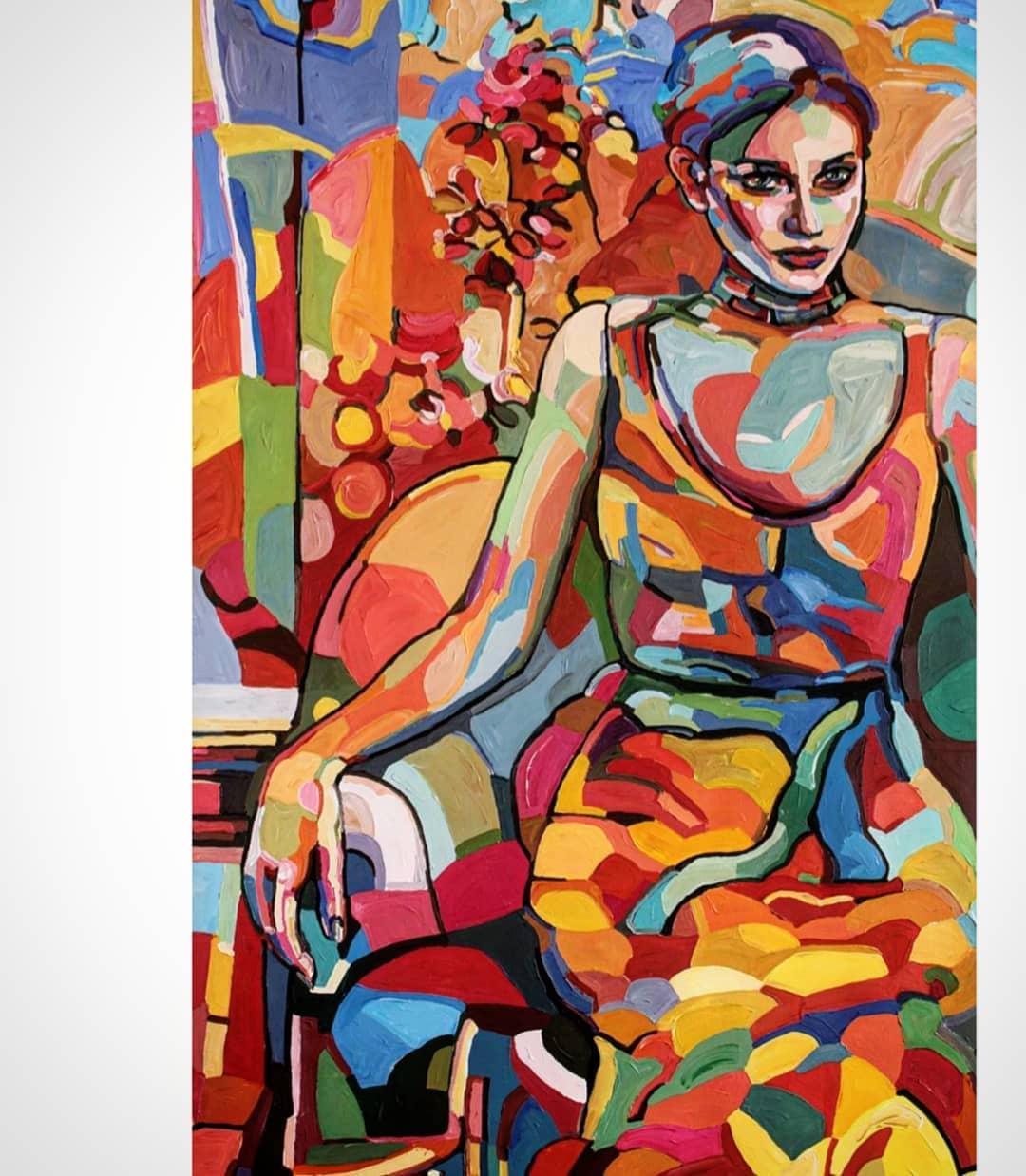 painting woman abstract noemi safir