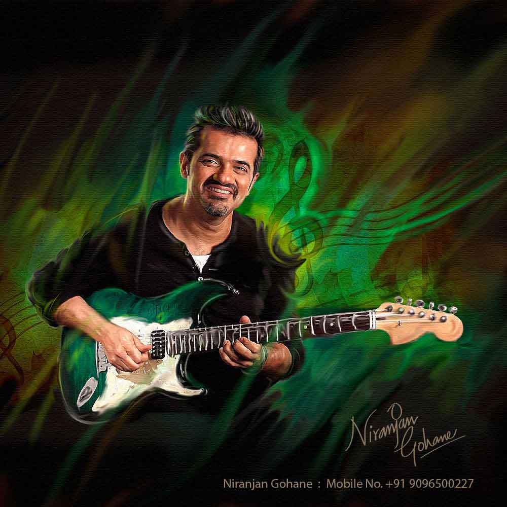 photo digital painting guitar niranjan gohane