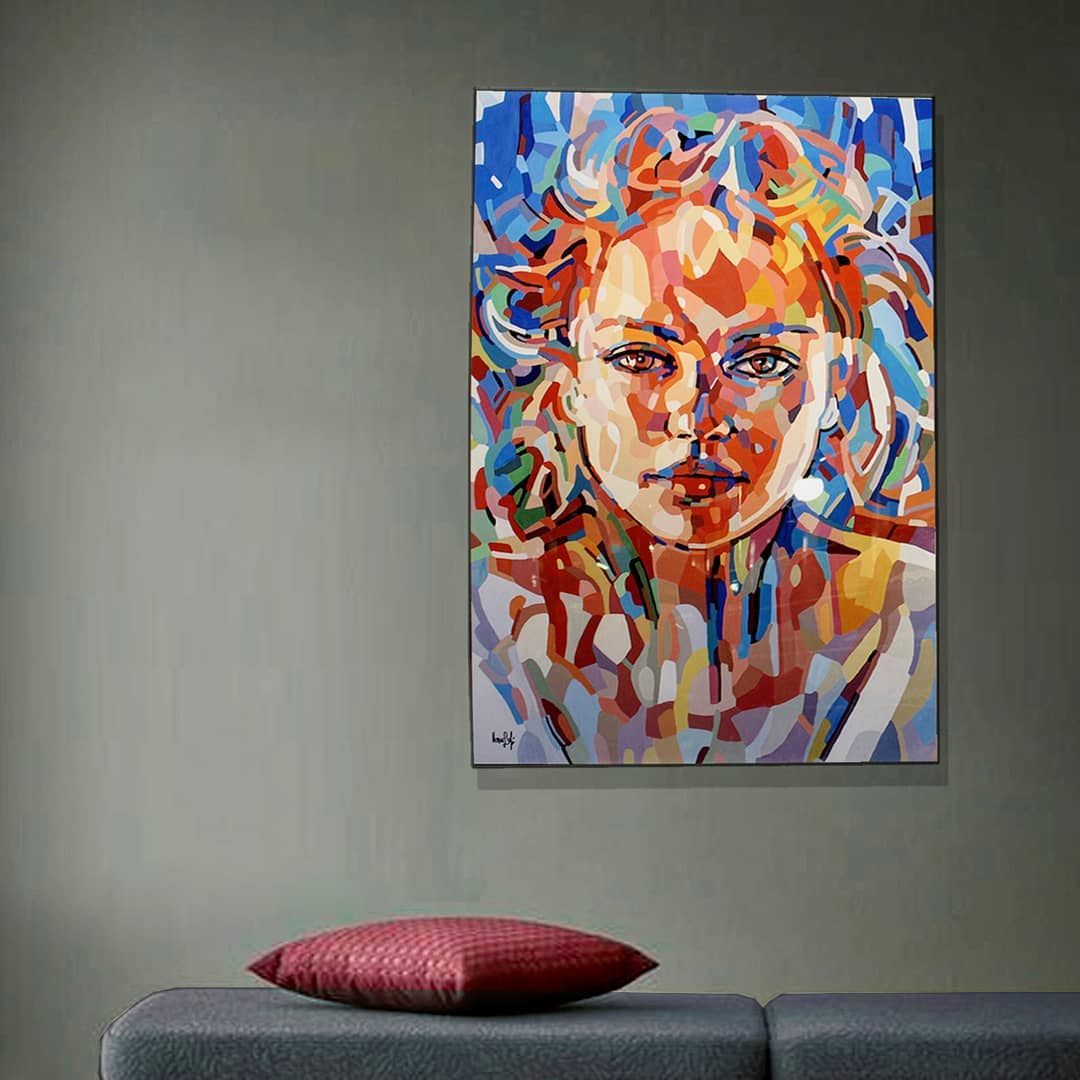 painting woman abstract noemi safir