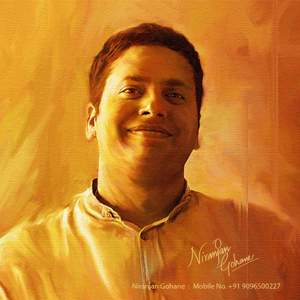photo digital painting man niranjan gohane