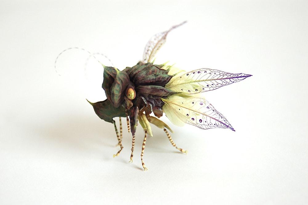 miniature sculpture fly hiroshi shinno