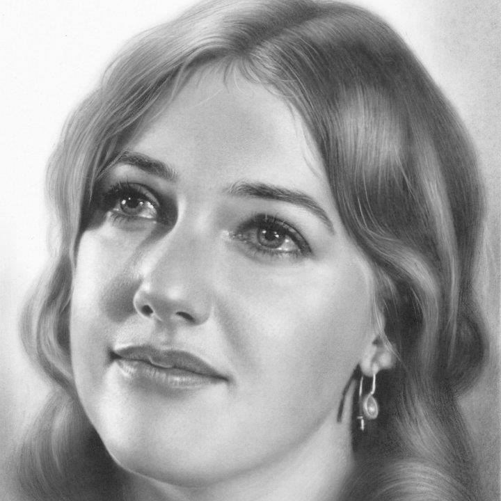 pencil drawing woman by musa celik